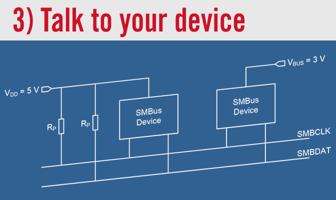 3) Talk to your device
