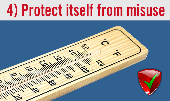 4) Protect itself from misuse