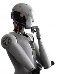 Humanoid robot - abstract