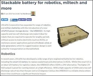 Stackable battery for robotics, miltech & more