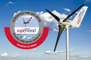 SuperWind Turbine and Ultralife Batteries